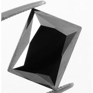 Schwarzer Diamant im Smaragdschliff mit 13.56 Karat von www.juwelierhausabt.de