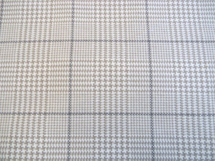 Robert Allen Cotswold Linen Houndstooth Plaid Upholstery Fabric Outlet BTY