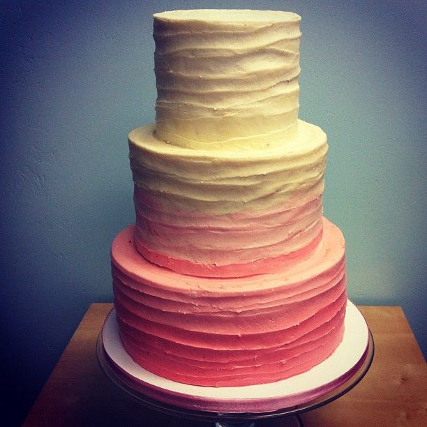 Textured buttercream ombré wedding cake (Taken... | The Frosted Cake Shop