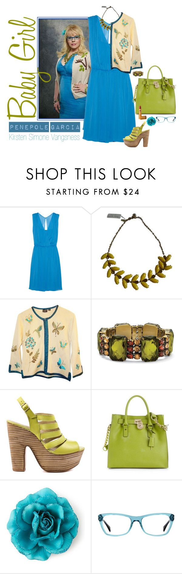 """""""Penelope Garcia"""" by polylana ❤ liked on Polyvore featuring Alice + Olivia, Garcia, Kate Spade, Palm Beach Jewelry, Seychelles, Michael Kors, Ray-Ban, Lipstick Queen, CriminalMinds and penelopegarcia"""