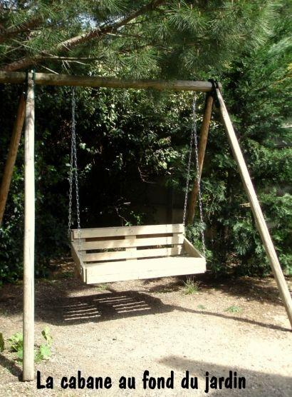Balancelle En Bois De Palettes / Upcycled Pallet Wood Swing