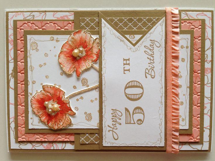 Stampin Up! 50th Birthday Card