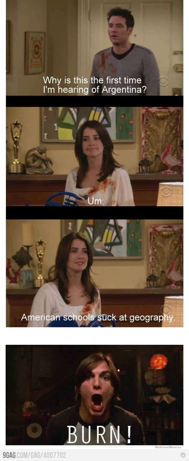 How I Met Your Mother, American and Canadian geography.