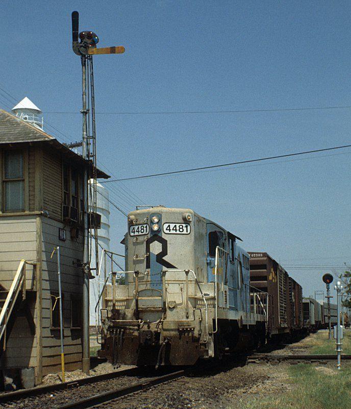 railroad train orders | Rock Island Railroad semaphore train order signal on interlocking ...