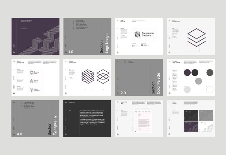Brand guidelines by London-based Socio Design for Californian space accounting specialist Stevenson Systems