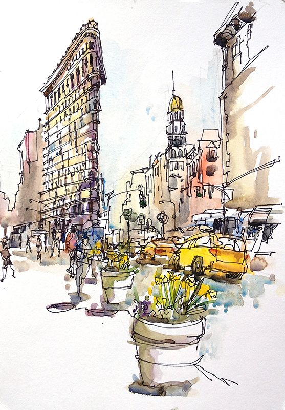 Back in New York, Part 5: Looking Up | Watercolour, New ...