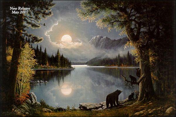 On Mirror Lake By Jesse Barnes 1936 Thomas Kinkade
