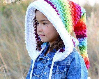 PATRÓN de ganchillo sobre la campana del arco iris por TheHatandI