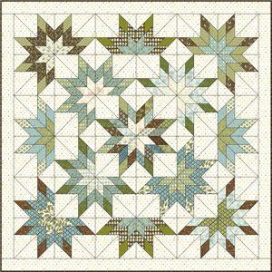 lone starburst quilt pattern   Lone-Starburst-with-fabrics