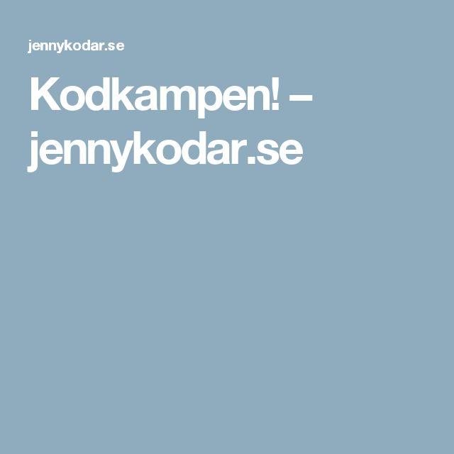 Kodkampen! – jennykodar.se