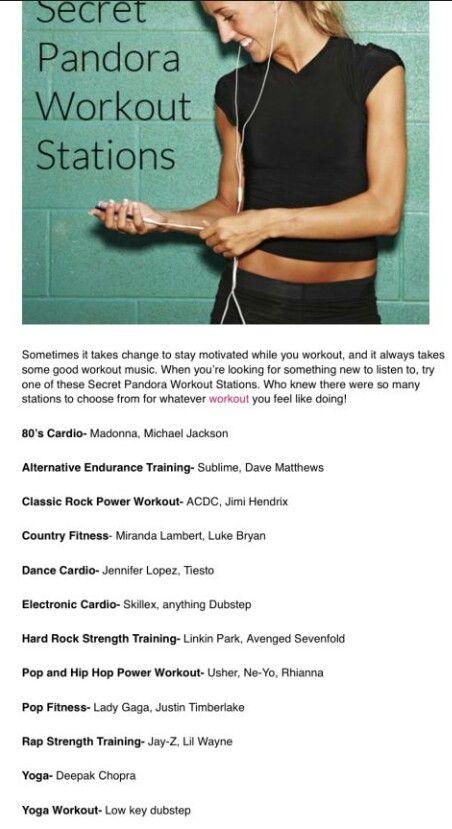 Secret Pandora workout stations