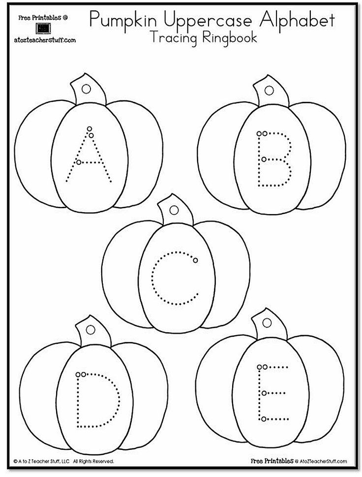 Pumpkin Lowercase and Uppercase Tracing Alphabet | A to Z Teacher Stuff…