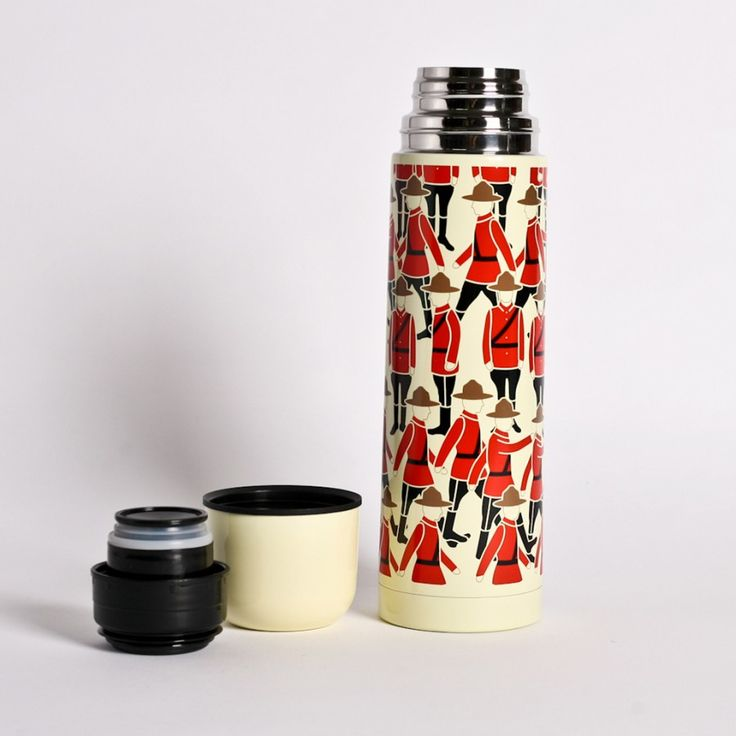 Mountie Thermos.  Perfect for days spent tobogganing or skiing, this Drake General Store Mountie Thermos will keep your Hot Toddy exactly how you like it – hot!