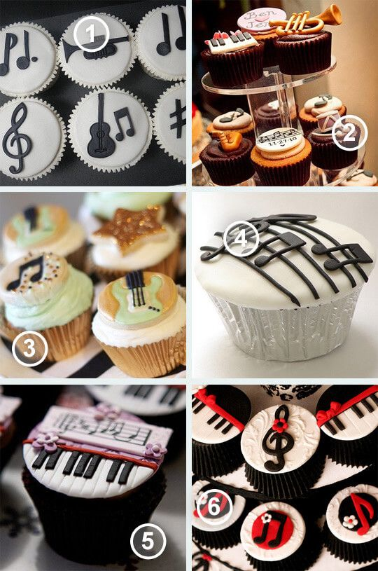 Muziek cupcake inspiratie   Style my party