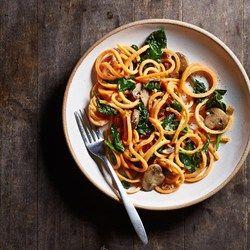 Sweet Potato Carbonara with Spinach & Mushrooms  - EatingWell.com