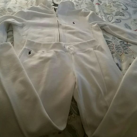 Polo jogging suit Zip up hoodie,slightly worn,light spot in front and back of jacket can easily be removed,sz large fit like a medium,very comfortable Polo by Ralph Lauren Other