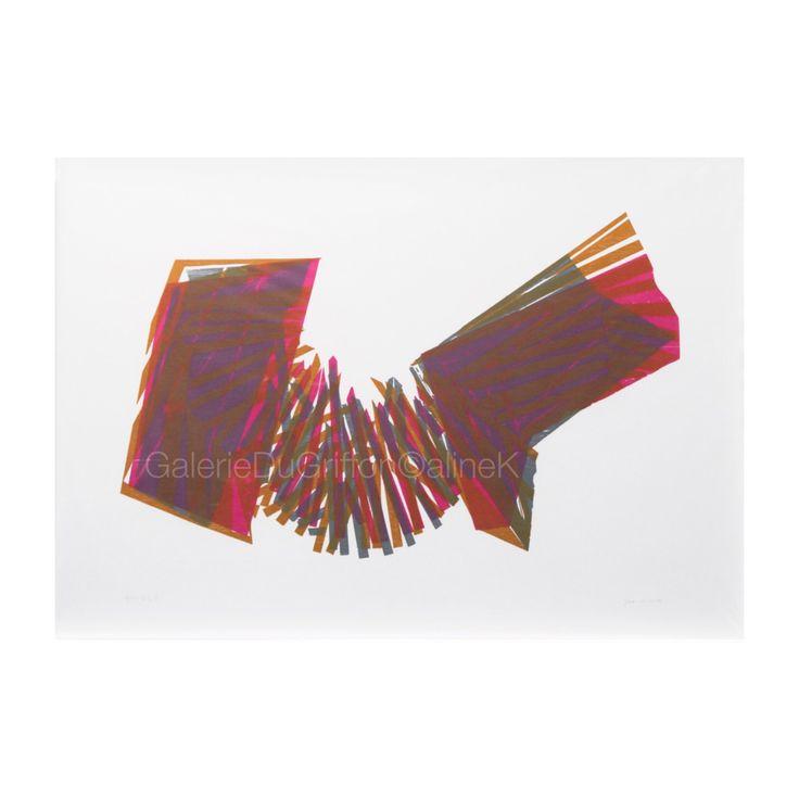 ➕ MARIA BONOMI ( née en 1935)   APOTHÉOSE VA, 1993 Bois de fil, 101 x 136 cm Xylogravure/Xylographie  Signée et numérotée 2/10