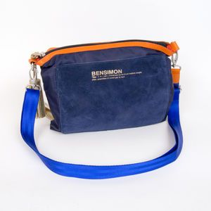 Sac Bensimon Mat & shiny line- Mini bag marine