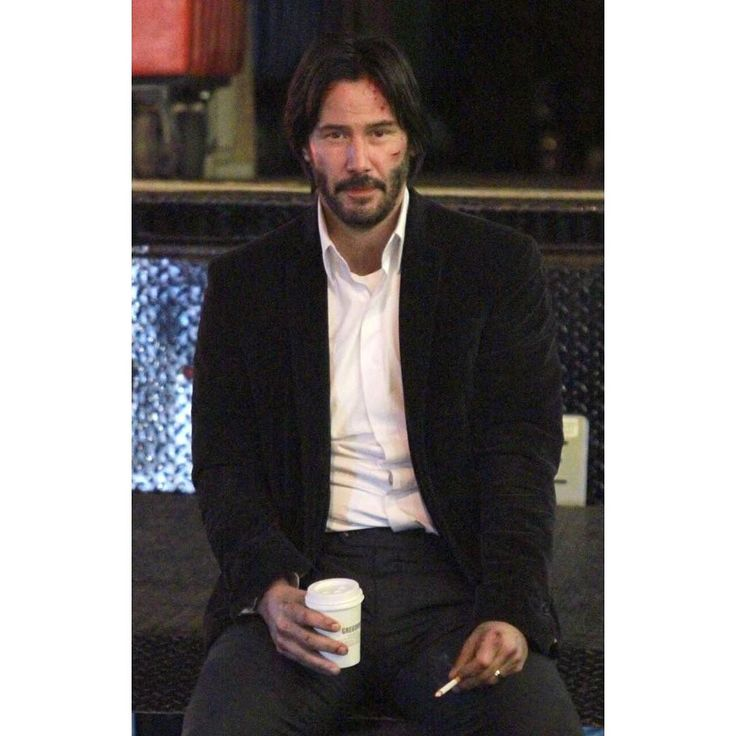 Time for coffee. Since there's no news about John Wick 3 here's Keanu Reeves from the set of the 1st sequel.  #keanureeves #johnwick #coffee #cigarette #constantine #neo #thematrix #coffeetime