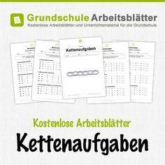 Kostenlose Arbeitsblätter und Unterrichtsmaterial zum Thema Kettenaufgaben im Mathe-Unterricht in der Grundschule.