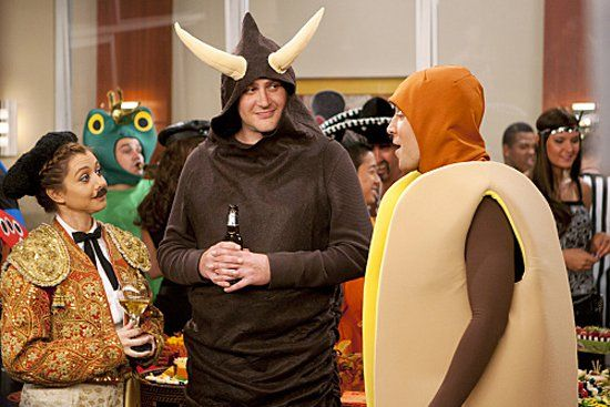 Pin for Later: The Best TV Character Halloween Costumes How I Met Your Mother: Lily, Marshall, and Ted Lily and Marshall go for a clever couple's costume: a matador and a bull! And Ted, of course, dresses as a hot dog.