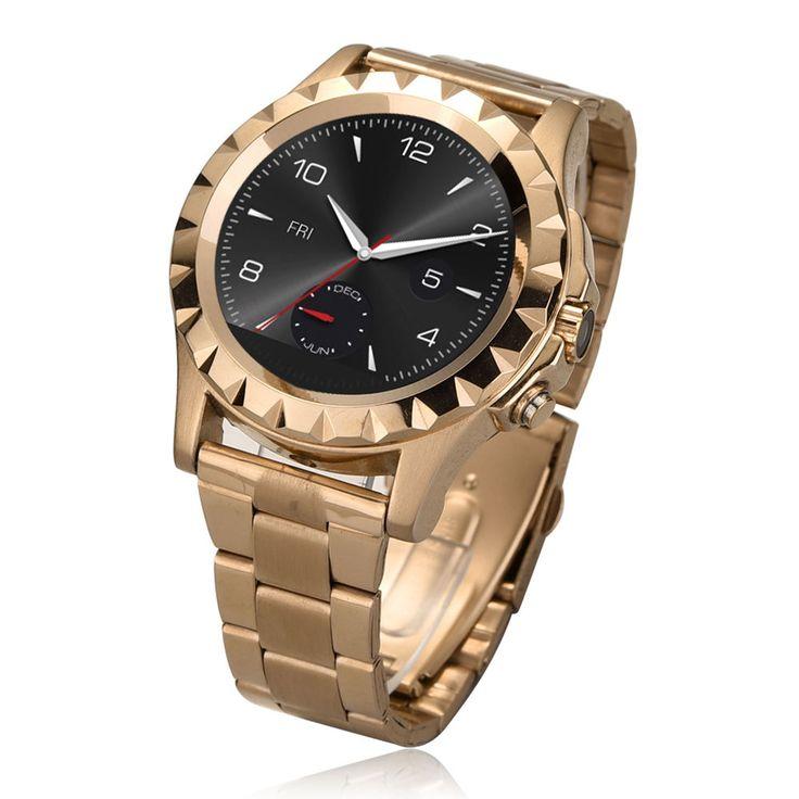 T2 Waterproof Bluetooth Smart Wrist Watch Steel Band for Android IOS Golden #UnbrandedGeneric