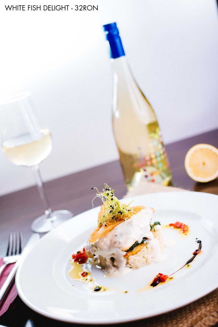 White Fish Delight - Fresh baked white fish, ncredibly tasty an versatile Wine pairing: Liliac Young (Feteasca alba & Pinot gris)
