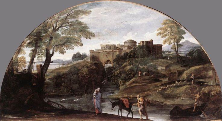 Carracci. Huida a Egipto. Capilla de los Aldobrandini, (1603 - 1604)Buscar con Google