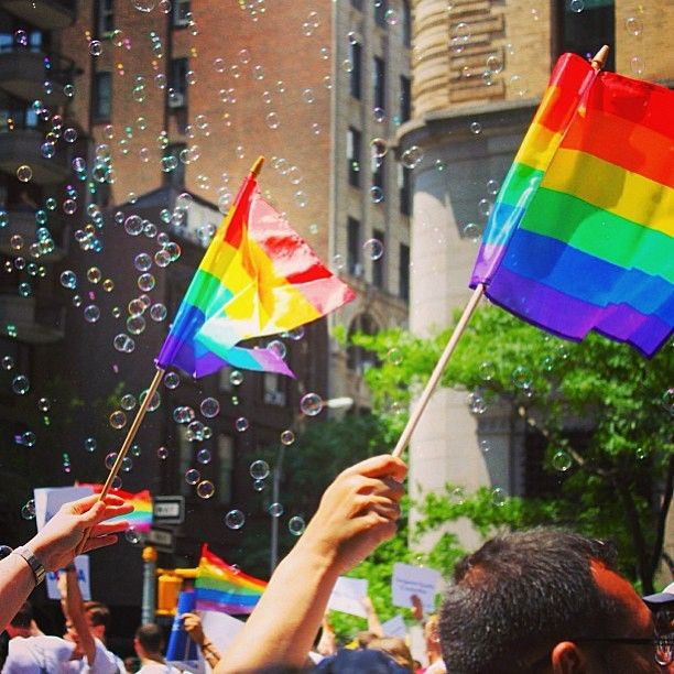 We're so proud to live in a city where people are free to be who they are. Happy #pride, #nyc! #nycpride #equality #loveislove #IGoftheDay by #nicolesglass #brooklynbowl #brooklyn #concerts #NYC #livemusic #bowlstagram #todaysbestIG