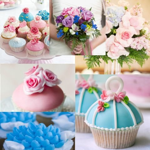 Wedding Colour Combos - pink and blue