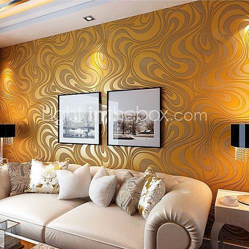 arte fondos de escritorio 3d deco contemporáneos aspersión abstracción oro pared pintado cubriendo arte de la pared de tela no tejida - USD $63.99