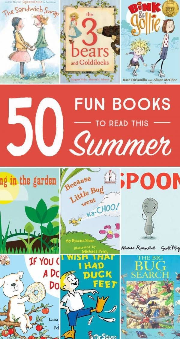50 Books For The Summer Holidays
