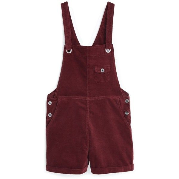 Pocket Velvet Dungarees found on Polyvore featuring jumpsuits, shorts, pants, bottoms, jumpsuit, mango jumpsuit, velvet overalls, red bib overalls, bib overalls and velvet jumpsuit