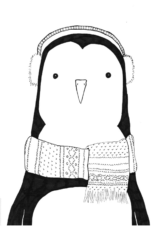 Penguin art - done with Sharpie  the Domina