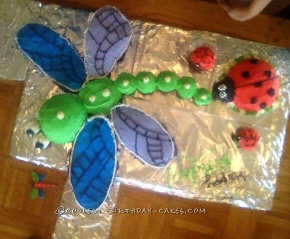 Ladybug and Dragonfly Cake... Coolest Birthday Cake Ideas