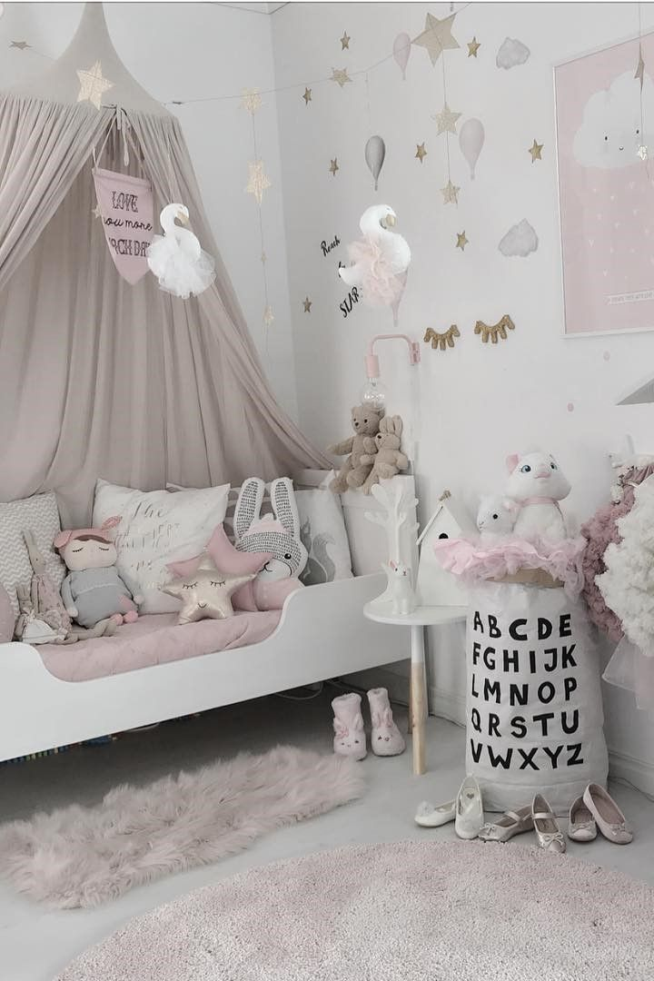 Inspiration From Instagram Mykindoflike Pastel Girls Room Ideas Pink And Grey Girls Room Design Kidsroom Deco Girl Room Kid Room Decor Pastel Girls Room