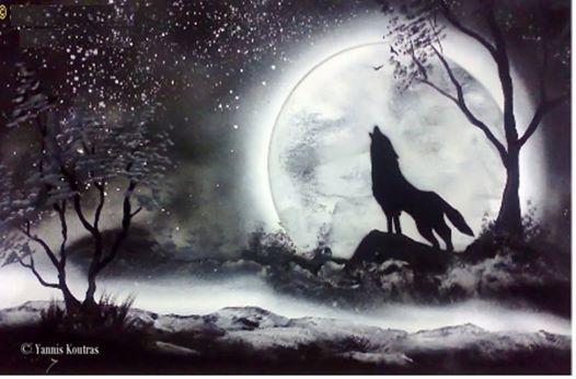 Wolf - Spray paint art Here is the video: https://www.youtube.com/watch?v=6jGJPlKYLO4