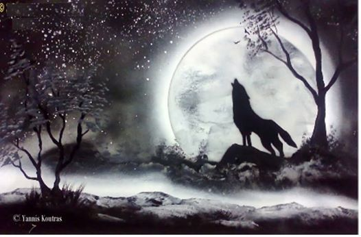 Wolf - Spray paint art Here is the video: https://www.youtube.com/watch?v=6jGJPlKYLO4