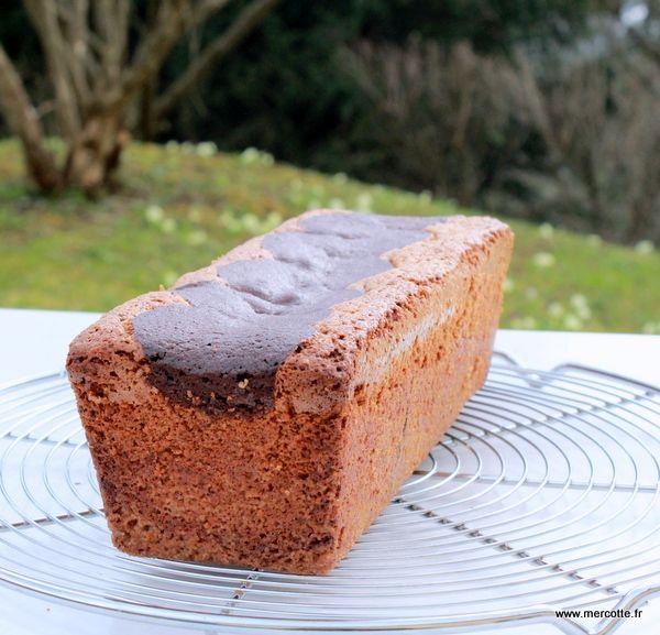 Cake noisettine et chocolat marbré - Philippe Conticini
