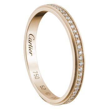 カルティエ ダムール ウェディング リング - Cartier(カルティエ)の結婚指輪(マリッジリング)