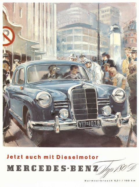 Mercedes-Benz-Werbung von 1954