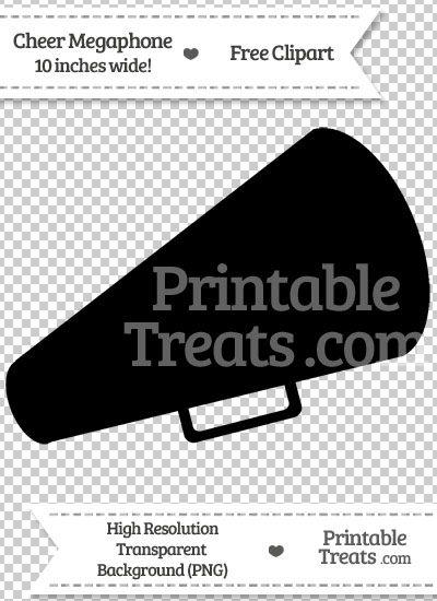 Black Cheer Megaphone Clipart from PrintableTreats.com