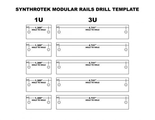 Synthrotek Rail Drilling Template now available! | Synthrotek