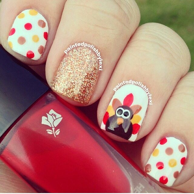 26 Thanksgiving Nail Art Design Ideas You Can Wear All Fall Long - Best 25+ Thanksgiving Nail Art Ideas On Pinterest Thanksgiving