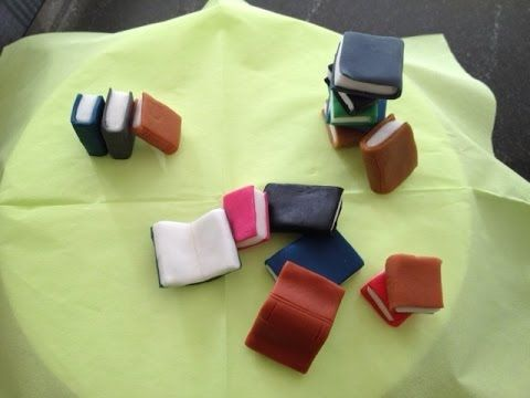 How to make fondant book topper / Mini libri in pasta di zucchero