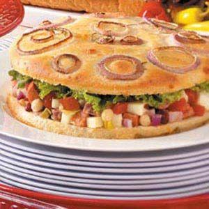Antipasto Focaccia Sandwiches Recipe