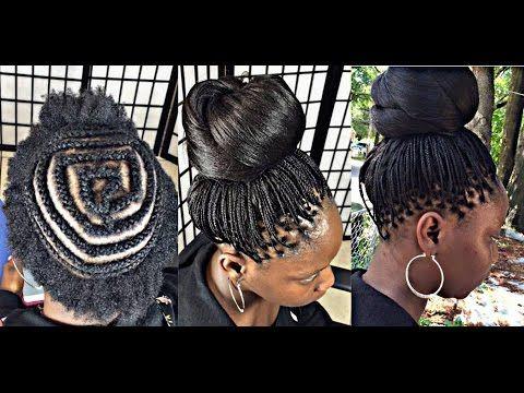 CROCHET MICRO BRAID with kanekalon hair [Video] - http://community.blackhairinformation.com/video-gallery/braids-and-twists-videos/crochet-micro-braid-kanekalon-hair-video/