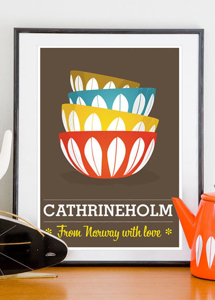 Retro plakat: Cathrineholm – From Norway with love