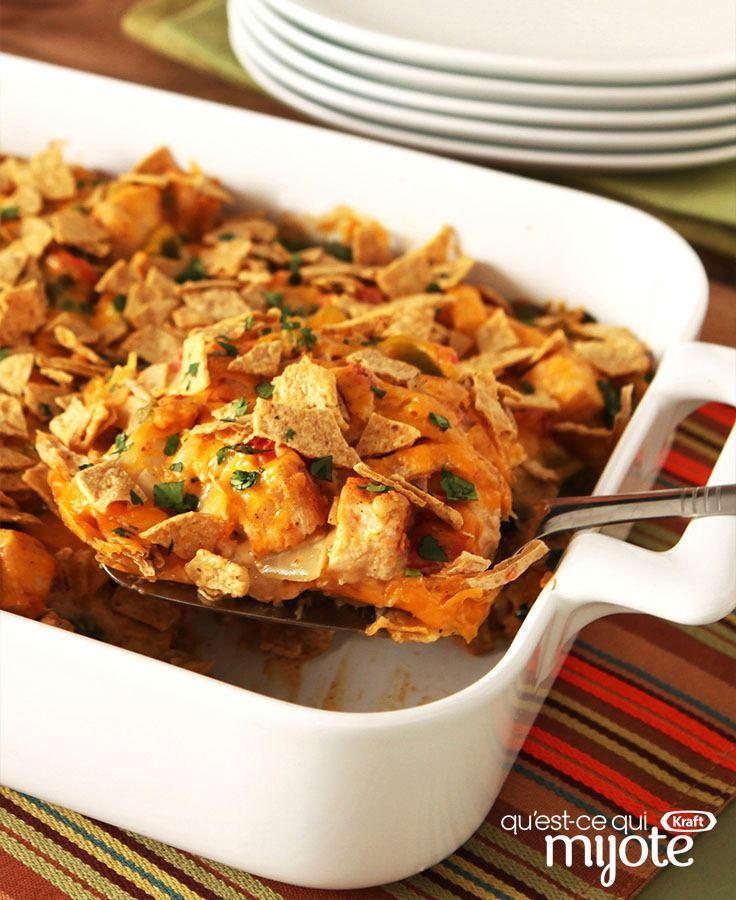 Casserole de poulet campagnard crémeuse #recette