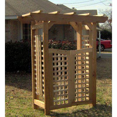 Threeman Products Cedar Deluxe Classic Style Garden Arbour